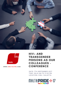 HIV+ and Transgender People as Our Colleagues Conference @ Hall -2 GWU Worker's Memorial Building | Valletta | Malta